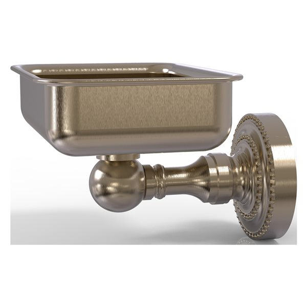 Allied Brass Dottingham Wall Mounted Antique Pewter Finish Brass Soap Dish