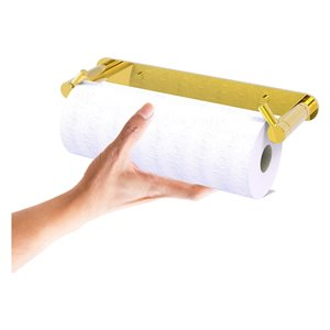 Allied Brass Polished Brass Metal Wall-Mounted Paper Towel Holder