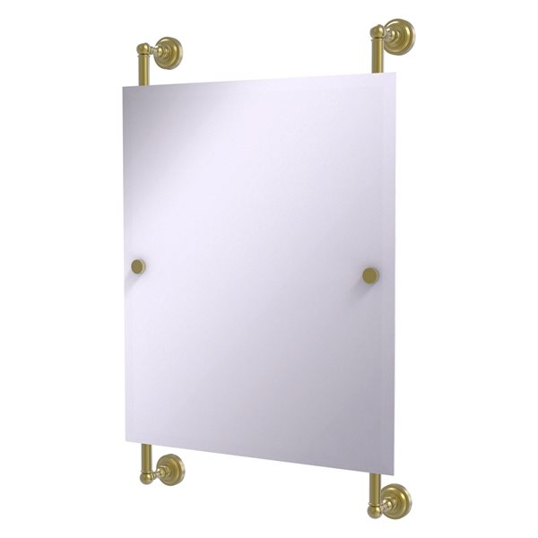 Allied Brass Dottingham 21-in Satin Brass Finish Rectangular Frameless Bathroom Mirror