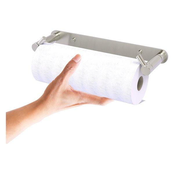 Allied Brass Satin Nickel Metal Wall-Mounted Paper Towel Holder