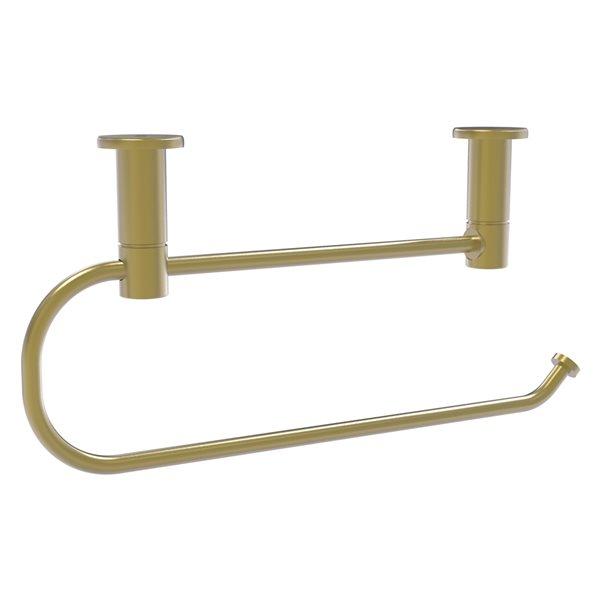 Allied Brass Wall-Mounted Metal Satin Brass Paper Towel Holder