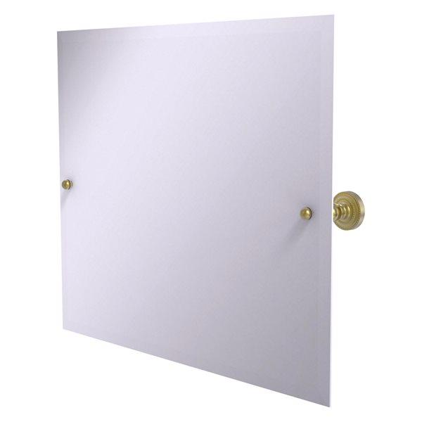 Allied Brass Dottingham 21-in Satin Brass Rectangular Frameless Bathroom Mirror