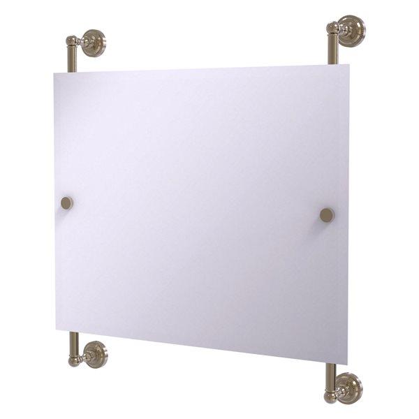 Allied Brass Dottingham 26-in Antique Pewter Finish Rectangular Frameless Bathroom Mirror