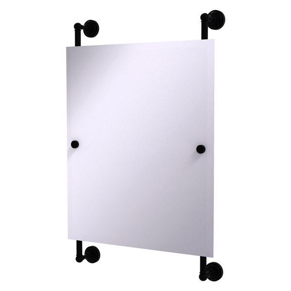 Allied Brass Dottingham 21-in Matte Black Finish Rectangular Frameless Bathroom Mirror