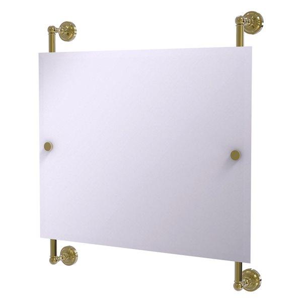 Allied Brass Dottingham 26-in Unlacquered Brass Finish Rectangular Frameless Bathroom Mirror