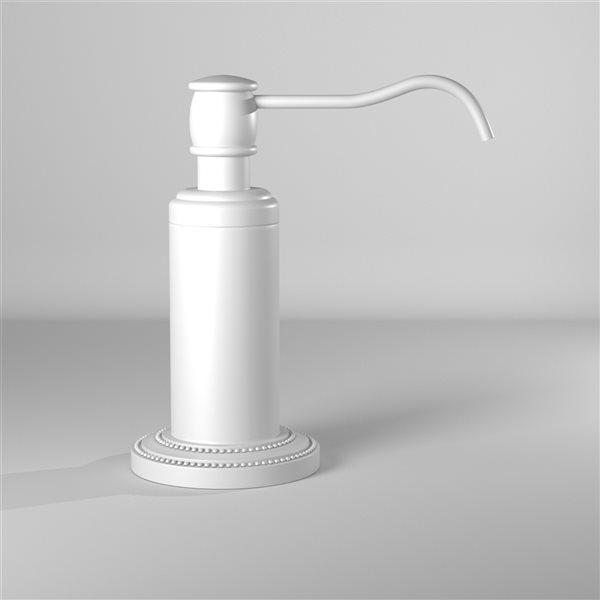 Allied Brass Dottingham Matte White Finish Soap and Lotion Dispenser