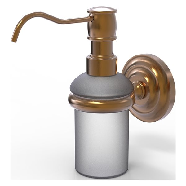 Allied Brass Prestige Que New Brushed Bronze Soap and Lotion Dispenser
