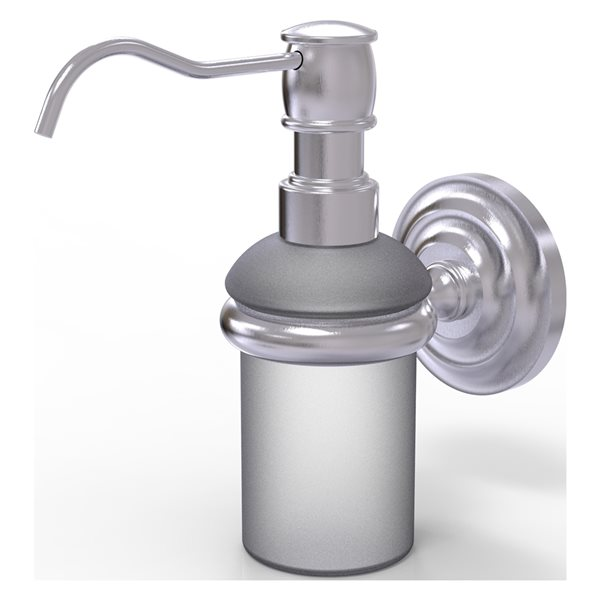 Allied Brass Prestige Que New Satin Chrome Soap and Lotion Dispenser