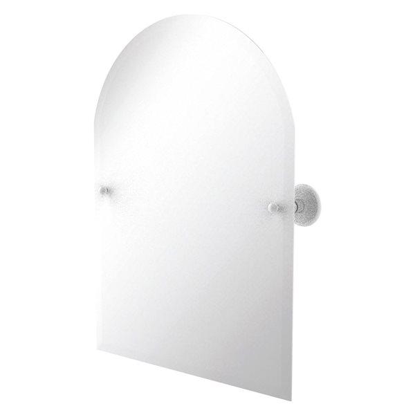 Allied Brass Prestige Monte Carlo 29-in Matte White Arch Frameless Bathroom Mirror