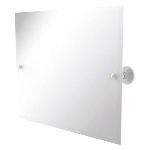 Allied Brass Prestige Monte Carlo 21-in Matte White Rectangular Frameless Bathroom Mirror
