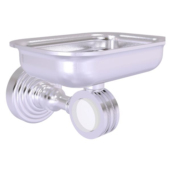 Allied Brass Pacific Grove Satin Chrome Wall Mounted Brass Soap Dish