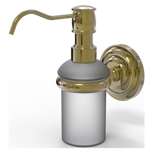 Allied Brass Prestige Que New Unlacquered Brass Soap and Lotion Dispenser