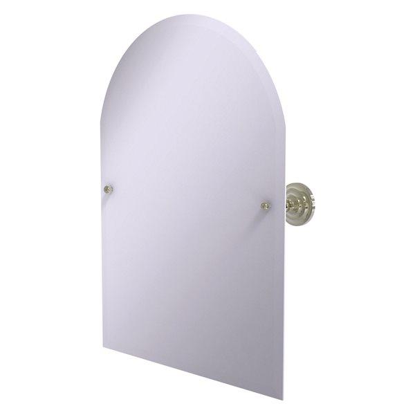 Allied Brass Prestige Que New 21-in Arch Frameless Bathroom Mirror in Polished Nickel