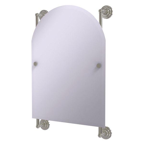 Allied Brass Prestige Que New 21-in Satin Nickel Arch Frameless Bathroom Mirror