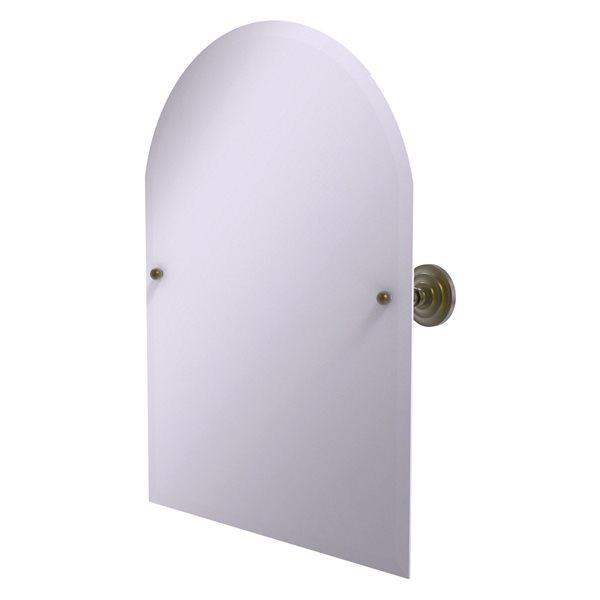 Allied Brass Prestige Que New 21-in Arch Frameless Bathroom Mirror in Antique Brass