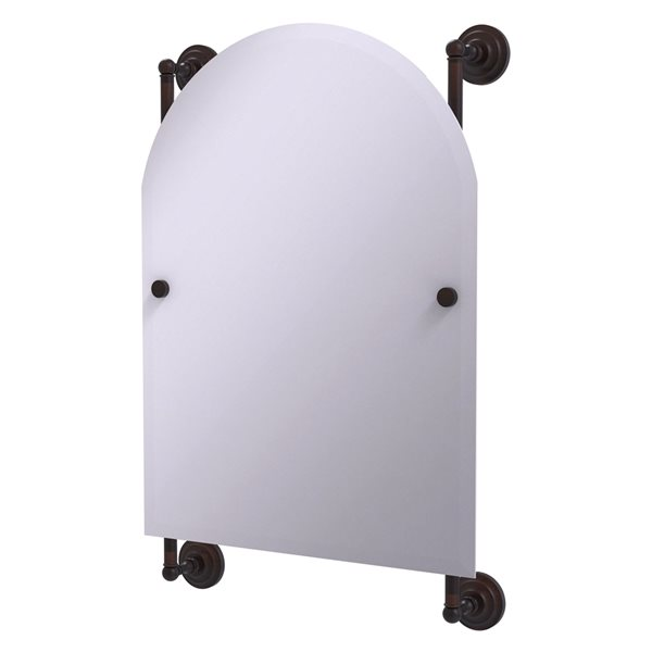 Allied Brass Prestige Que New 21-in Venetian Bronze Arch Frameless Bathroom Mirror
