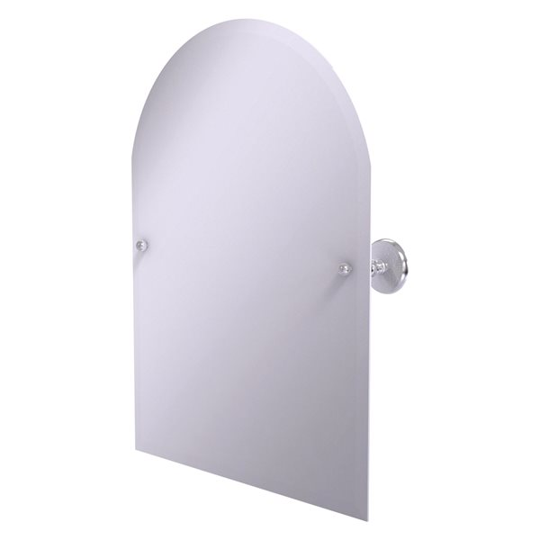 Allied Brass Prestige Monte Carlo 29-in Satin Chrome Arch Frameless Bathroom Mirror