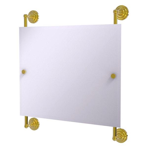 Allied Brass Prestige Que New 26-in Polished Brass Rectangular Frameless Bathroom Mirror
