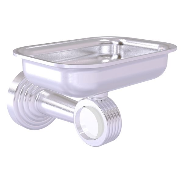 Allied Brass Pacific Beach Wall Mounted Brass Soap Dish in Satin Chrome