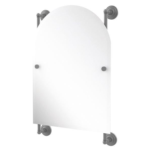 Allied Brass Prestige Que New 21-in Matte Grey Arch Frameless Bathroom Mirror