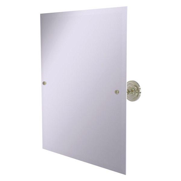 Allied Brass Prestige Que New 29-in Polished Nickel Rectangular Frameless Bathroom Mirror