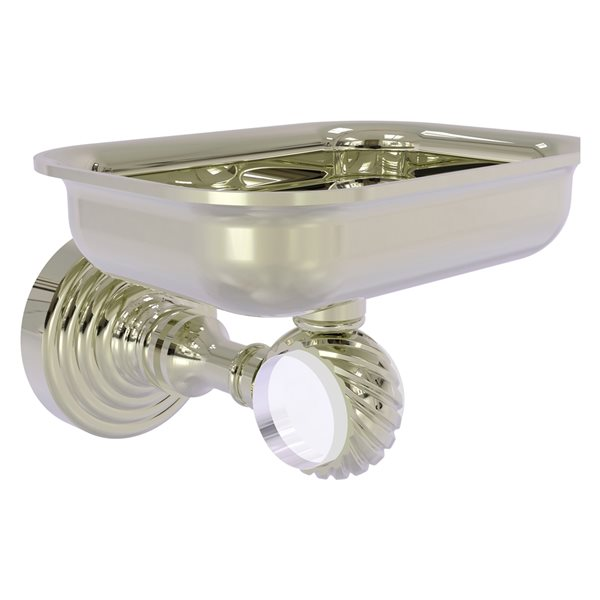 Allied Brass Pacific Grove Wall Mounted Polished Nickel Finish Brass Soap Dish