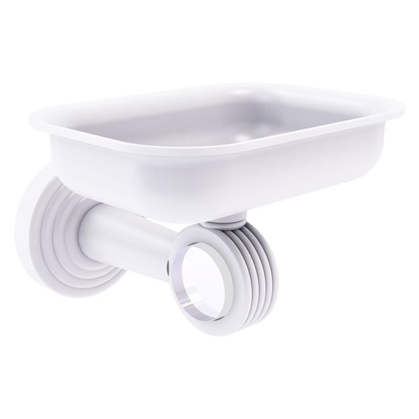 Allied Brass Pacific Beach Wall Mounted Brass Soap Dish in Matte White