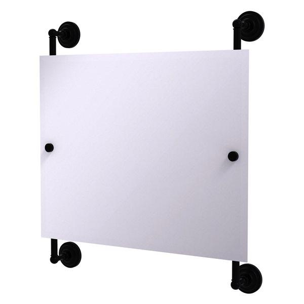Allied Brass Prestige Que New 26-in Matte Black Rectangular Frameless Bathroom Mirror