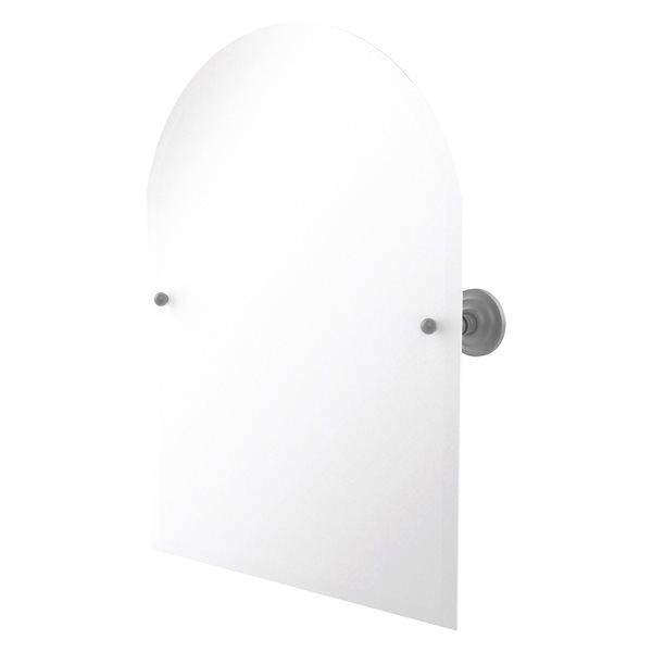 Allied Brass Prestige Que New 21-in Arch Frameless Bathroom Mirror in Matte Grey
