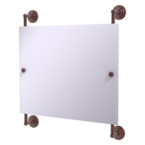 Allied Brass Prestige Que New 26-in Antique Copper Rectangular Frameless Bathroom Mirror