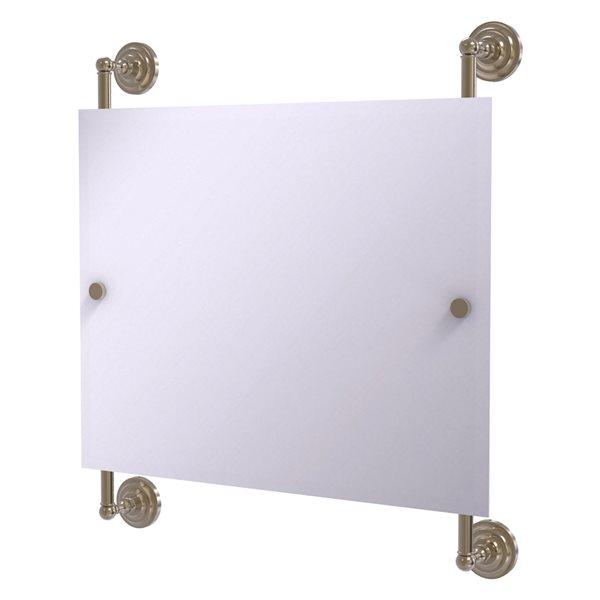 Allied Brass Prestige Que New 26-in Antique Pewter Rectangular Frameless Bathroom Mirror