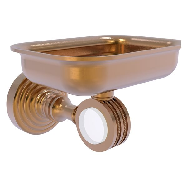 Allied Brass Pacific Grove Brushed Bronze Wall Mounted Brass Soap Dish