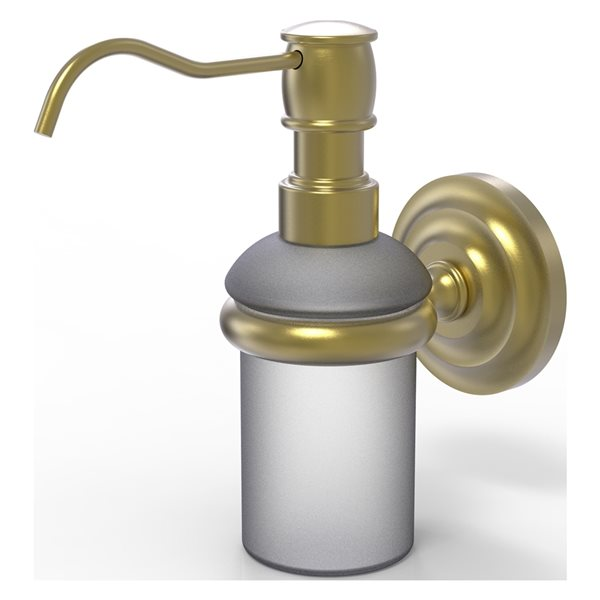 Allied Brass Prestige Que New Satin Brass Soap and Lotion Dispenser