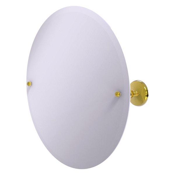 Allied Brass Prestige Monte Carlo 22-in Polished Brass Round Frameless Bathroom Mirror