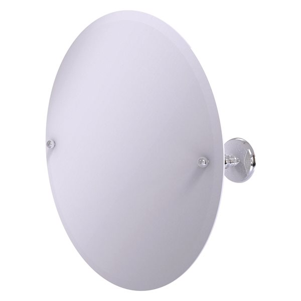 Allied Brass Prestige Monte Carlo 22-in Polished Chrome Round Frameless Bathroom Mirror