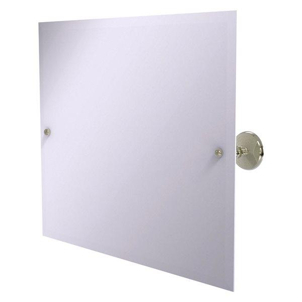 Allied Brass Prestige Monte Carlo 21-in Polished Nickel Rectangular Frameless Bathroom Mirror