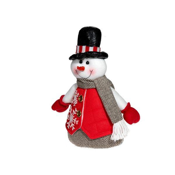 Décoration de Noël IH Casa Decor bonhomme de neige en peluche