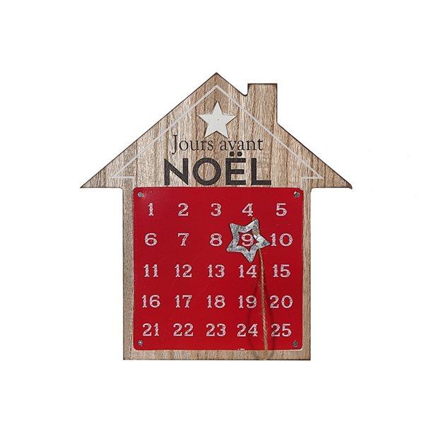 IH Casa Decor Red/Wood House French Advent Calendar