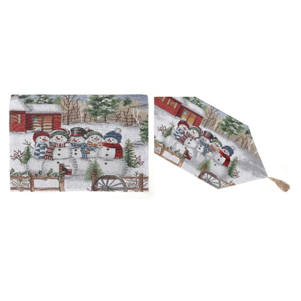 IH Casa Decor Fitted Table Cover Set with Snowmen