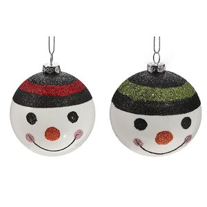 IH Casa Decor Multicolour Snowman Ornament Set - 12-Pack