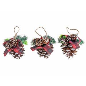 IH Casa Decor Pine Cone Ornament Set - 3-Pack