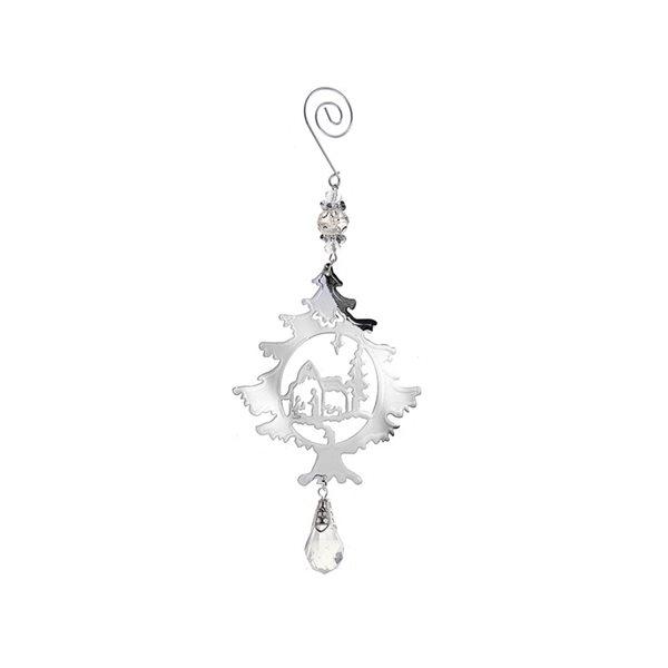 IH Casa Decor Silver Tree Ornament Set - 12-Pack