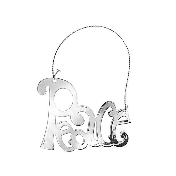 IH Casa Decor Metal English Text Ornament Set - 12-Pack