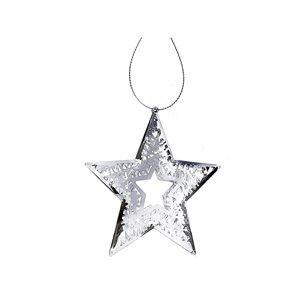 IH Casa Decor Silver Star Ornament Set - 6-Pack