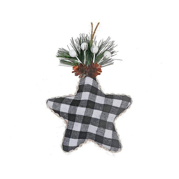 Ensemble d'ornements IH Casa Decor noirs en forme d'étoile, paquet de 12