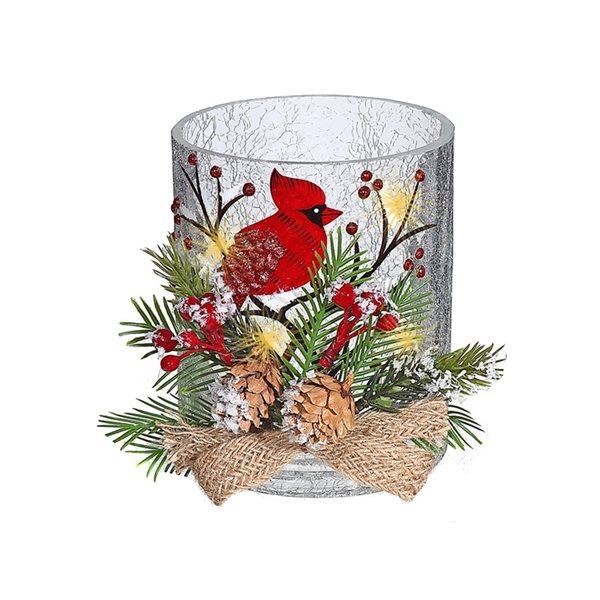 Décoration de Noël IH Casa Decor cardinal et pomme de pin