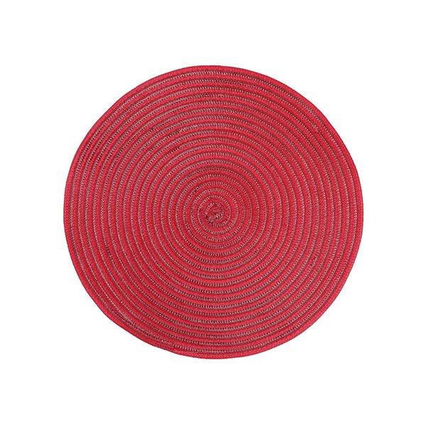 Napperon rouge tissé par IH Casa Decor, ensemble de 12