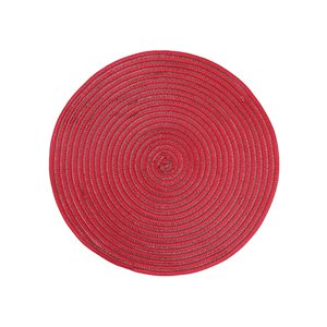 IH Casa Decor Red Woven Placemat - Set of 12