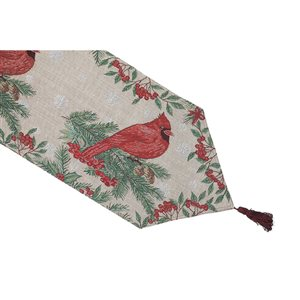 IH Casa Decor Fitted 54-in Tapestry Runner with Red Cardinal