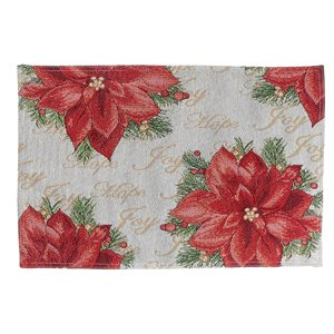 IH Casa Decor Red Poinsettia Placemat - Set of 12